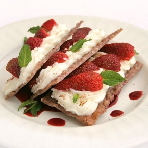 Strawberries & Cheese Mille-feuille