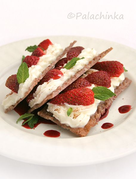 Strawberries & Cream Cheese Mille-feuille