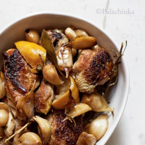 Lemon Cider Chicken with 40 Cloves of Garlic