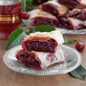 Sour Cherry Phyllo Pie