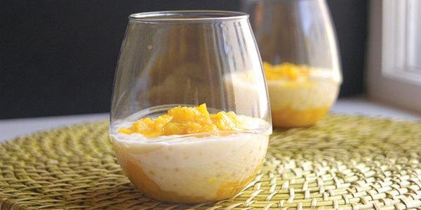 Bashful Bao: Coconut Tapioca Pudding with Mango & Lime