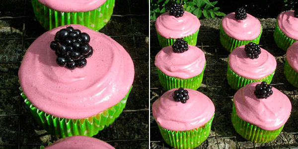 Chocolate Log Blog: Blackberry and Apple Cupcakes