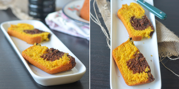 UK Rasoi: Eggless and Butterless Mango Choco Cake