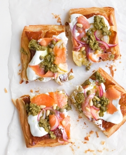 Cold Smoked Trout Pizza Tart